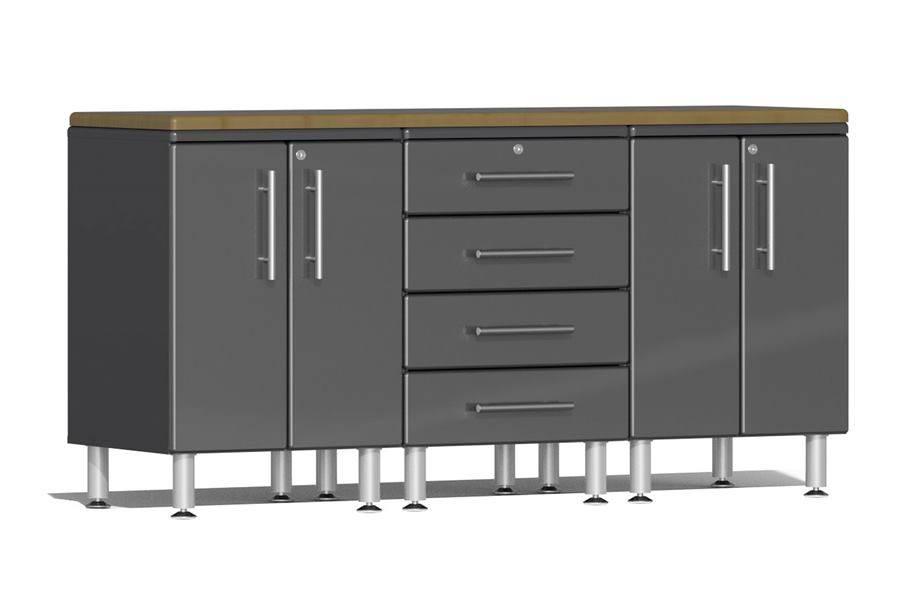 Ulti-MATE Garage 2.0 4-PC Workstation Kit - Graphite Grey Metallic