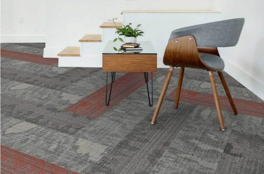 EF Contract Blot Carpet Planks - Quarry, Charred/Matador(Seep