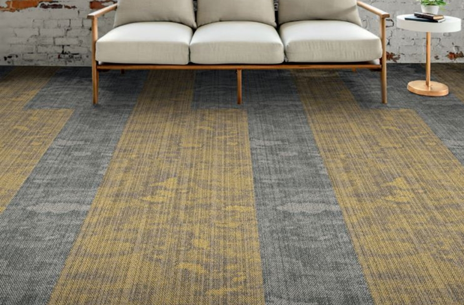EF Contract Blot Carpet Planks - Quarry, Canary (Blot)