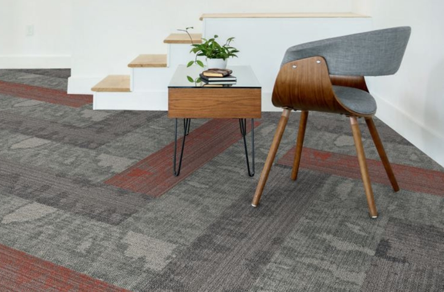 EF Contract Seep Carpet Planks - Charred, Matador, Quarry(Blot)