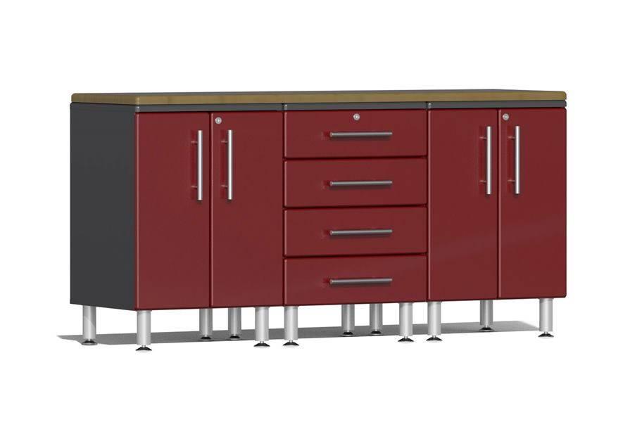 Ulti-MATE Garage 2.0 4-Piece Workstation Kit - Ruby Red Metallic