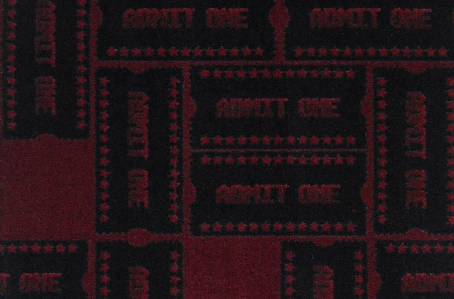 Joy Carpets Admit One Carpet - Burgundy