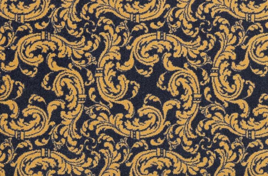 Joy Carpets Scrollwork Carpet - Navy