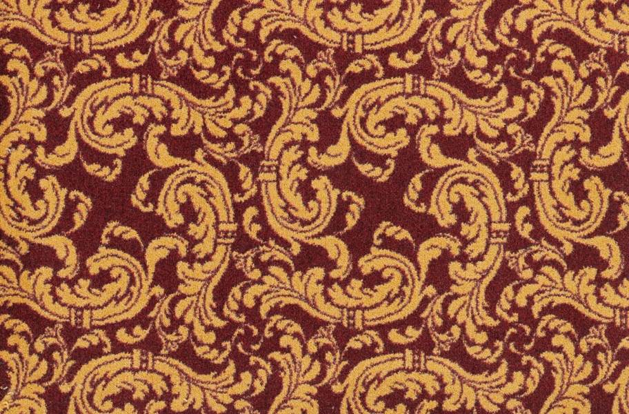 Joy Carpets Scrollwork Carpet - Burgundy