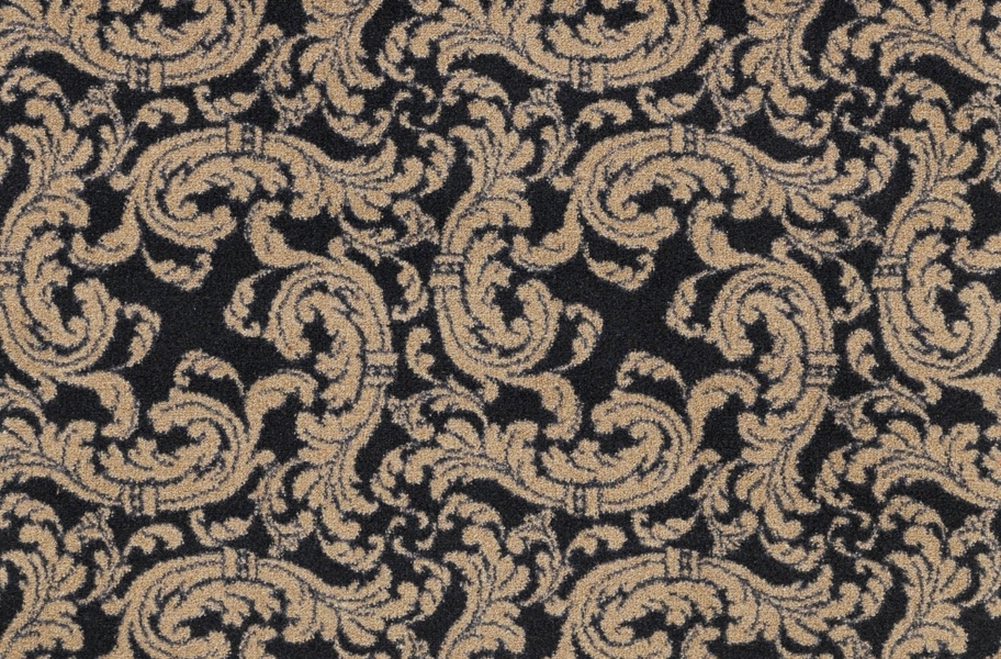 Joy Carpets Scrollwork Carpet - Black