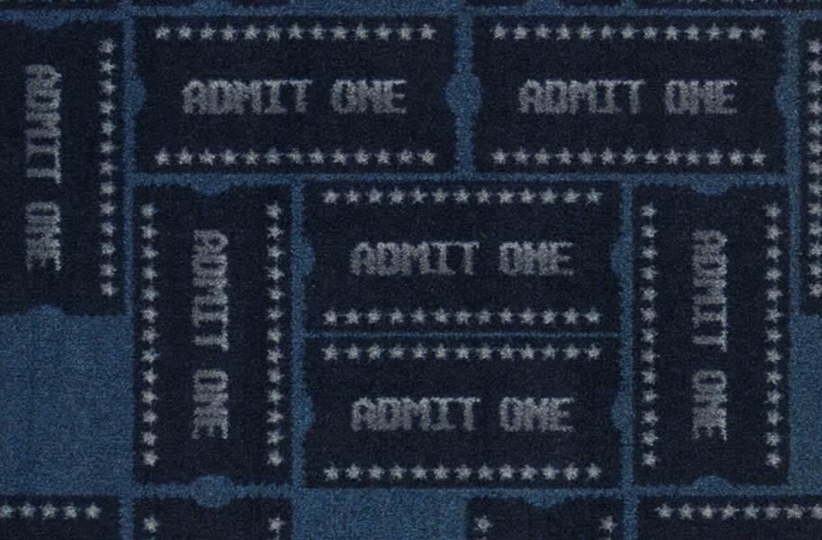 Joy Carpets Admit One Carpet - Blue