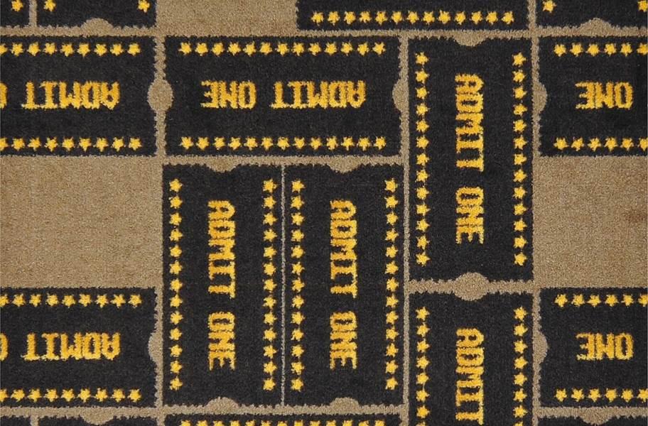 Joy Carpets Admit One Carpet - Brown