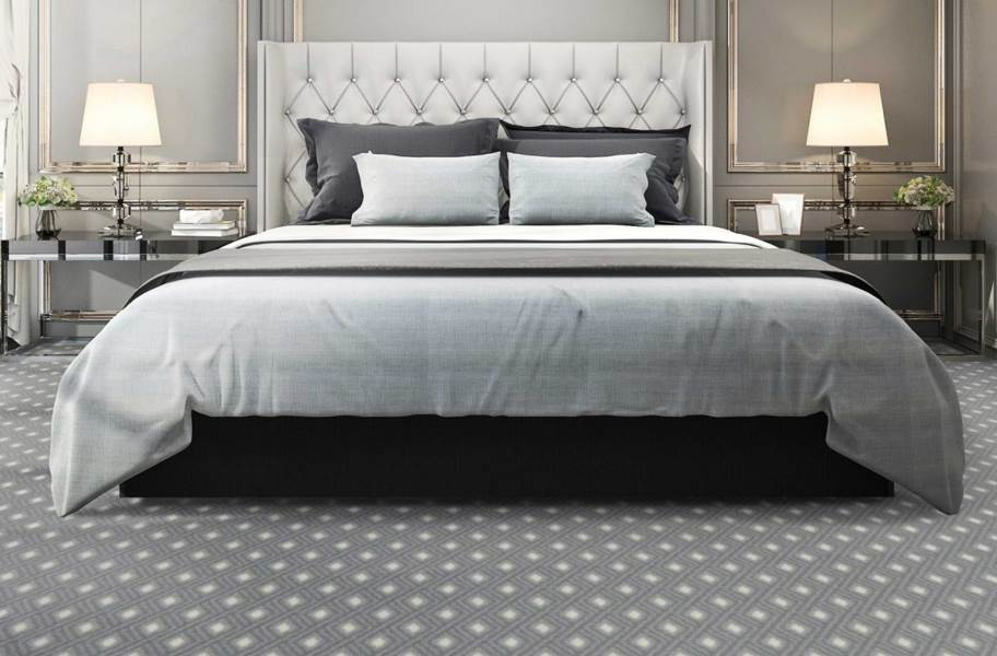 Joy Carpets Diamond Lattice Carpet - Cloudy