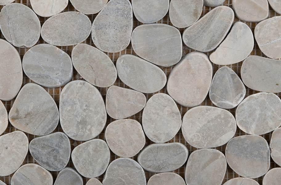 Emser Tile Venetian Flat Pebbles - Silver