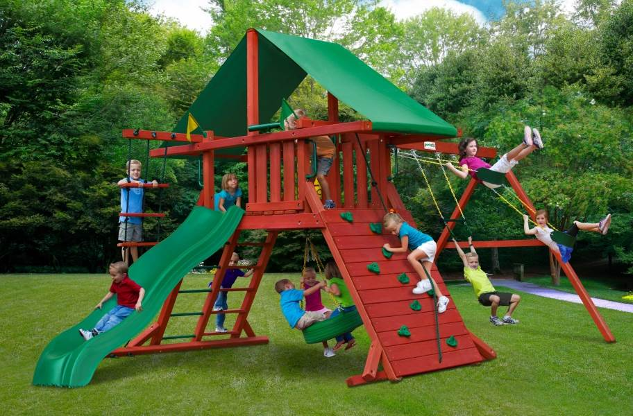 Sun Valley Wooden Swing Set  - without Monkey Bar