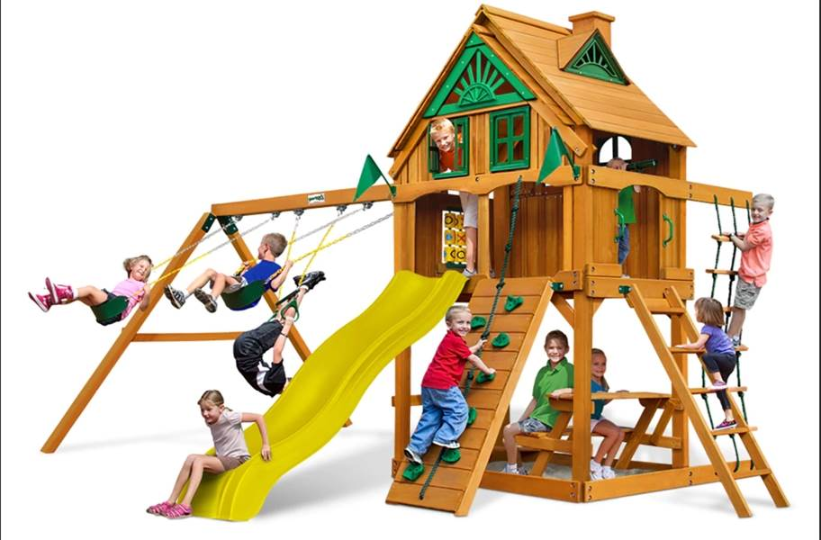 Chateau Swing Set - With Fort add-on