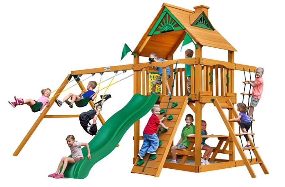 Chateau Swing Set - Standard Wood Roof
