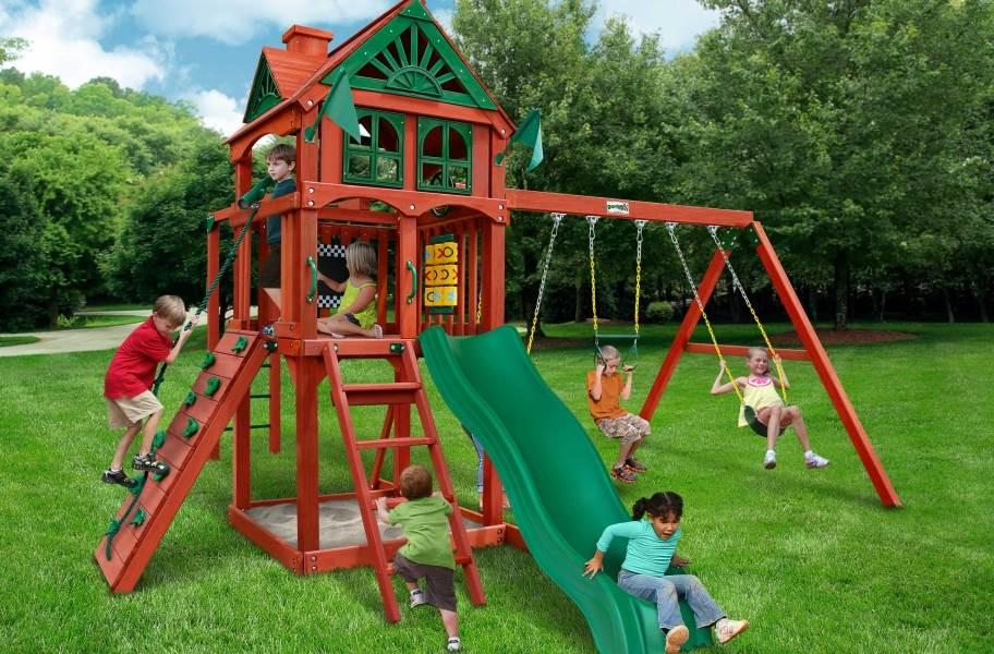 Five Star II Wooden Swing Set