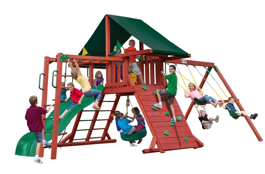 Sun Climber with Sunbrella - with Monkey Bars Canvas Forest Green