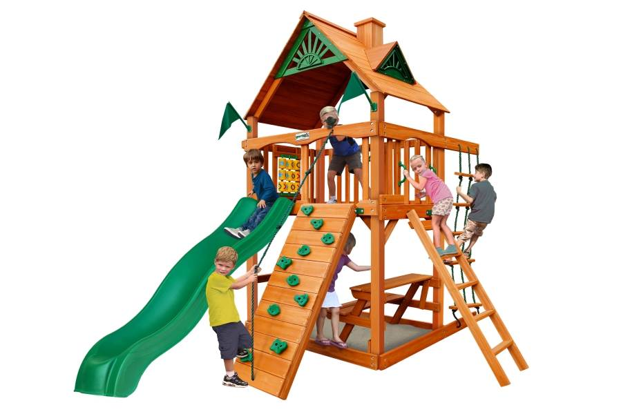 Chateau Tower Playset - Standard Wood Roof