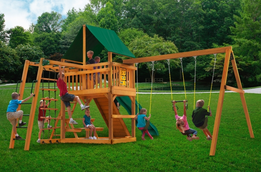 Navigator Playset - Canvas Forest Green Canopy