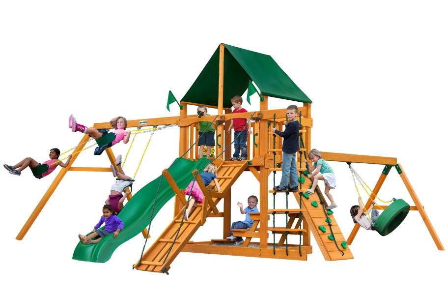 Frontier Playset - Canvas Forest Green Canopy