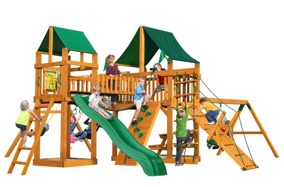 Pioneer Peak Playhouse - Canvas Forest Green Canopy