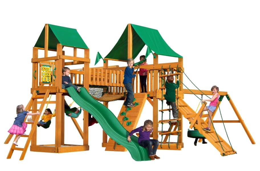 Pioneer Peak Playhouse - Deluxe Green Vinyl Canopy