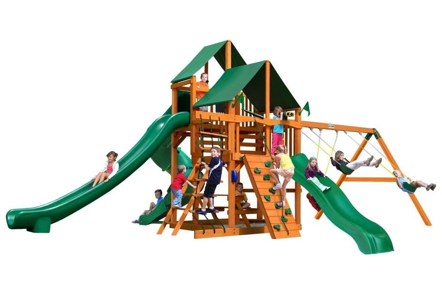 Great Skye II Playhouse - Canvas Forest Green Canopy