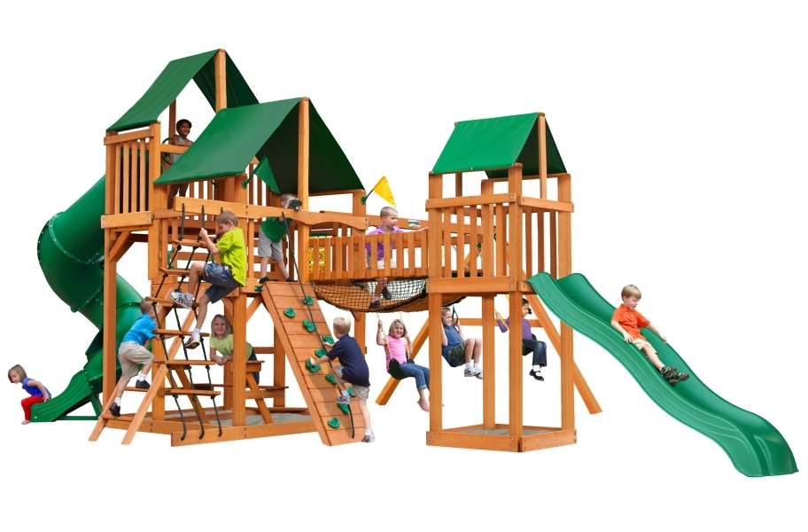 Treasure Trove Playhouse - Canvas Forest Green Canopy