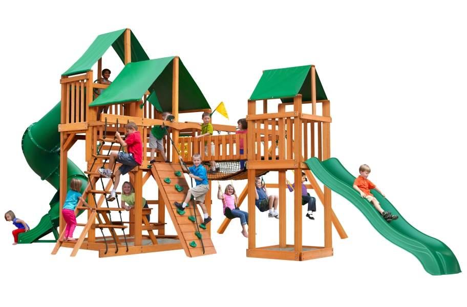 Treasure Trove Playhouse - Deluxe Green Canopy