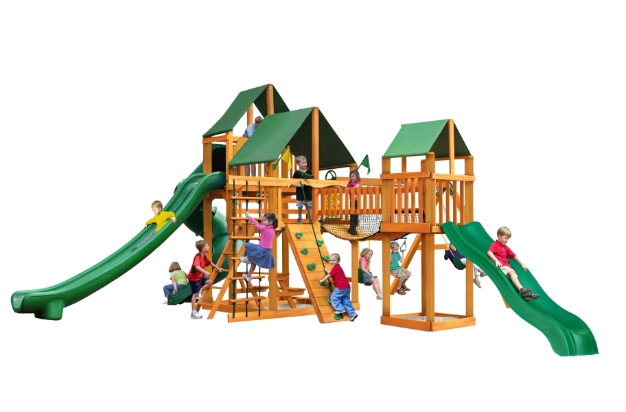 Treasure Trove II Playhouse - Canvas Forest Green Canopy