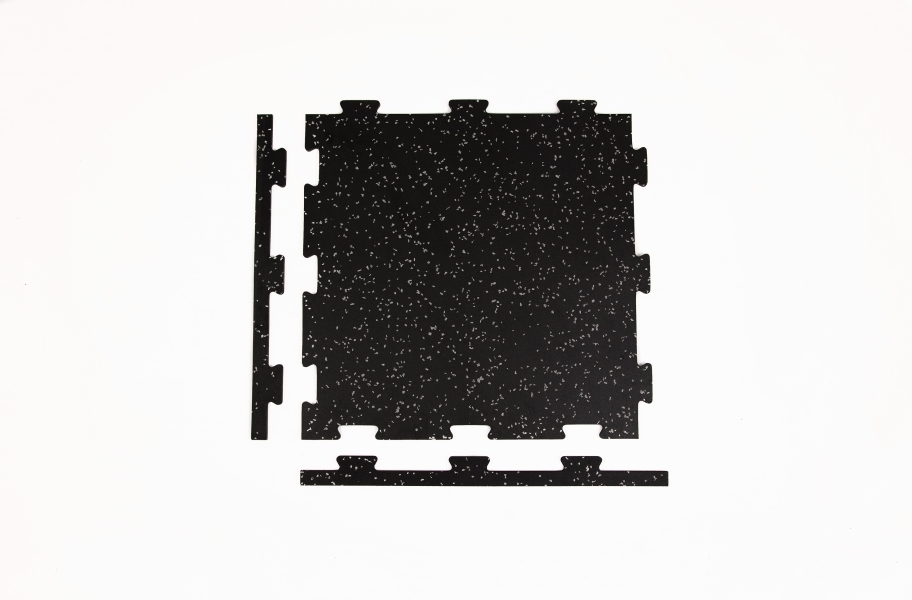 8mm Titan Rubber Tile 4-Pack - Corner Tile
