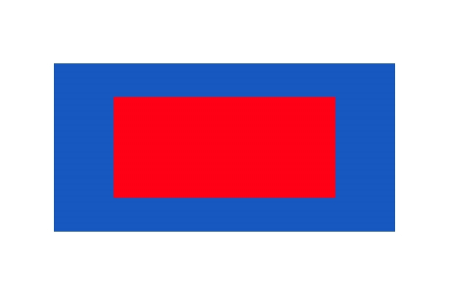 Outdoor Tennis Court Kit - 60' x 120' - Victory Red/Shelby Blue without Lines