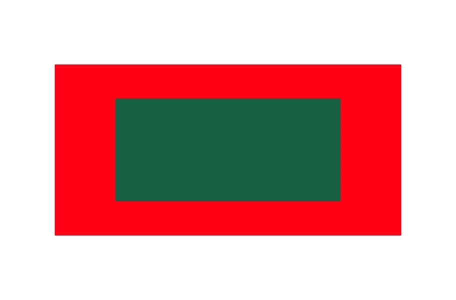 Outdoor Tennis Court Kit - 60' x 120' - Evergreen/Victory Red without Lines