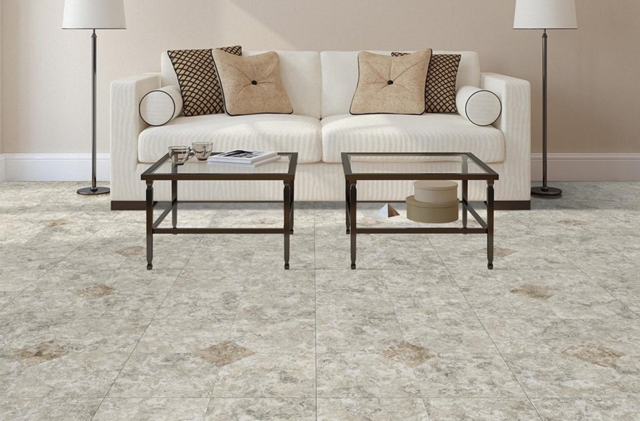 Stone Flex Tiles - Breccia Collection - Blanco