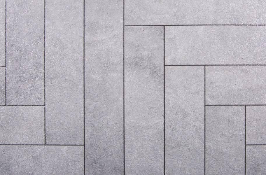 Stone Flex Tiles - Mosaic Collection - Chevron Graystone
