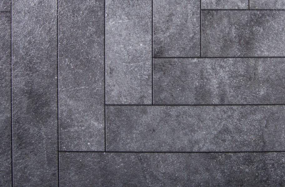 Stone Flex Tiles - Mosaic Collection - Chevron Blackstone