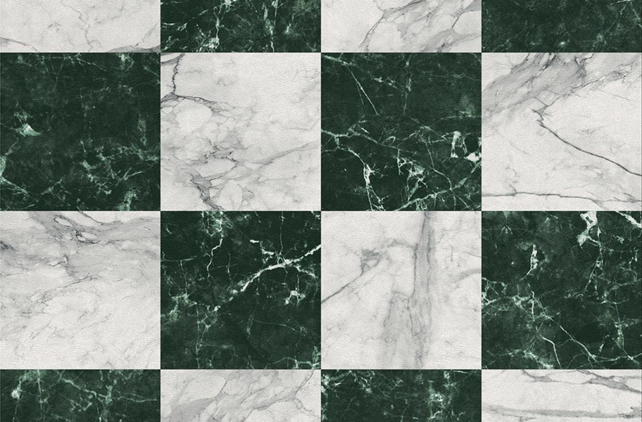 Stone Flex Tiles - Gemstone Collection - Green/White Marble 5