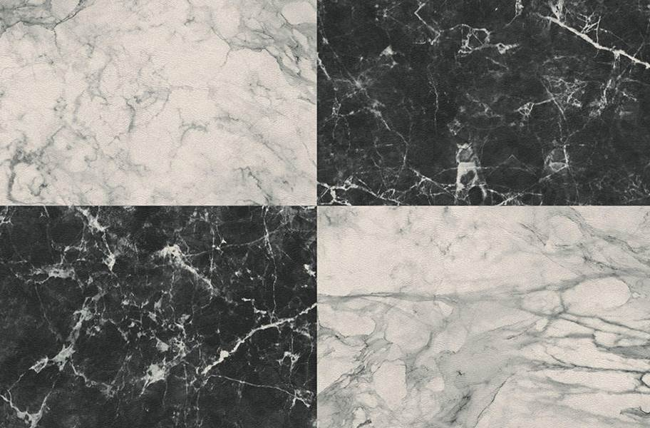 Stone Flex Tiles - Gemstone Collection - Black/White Marble 10