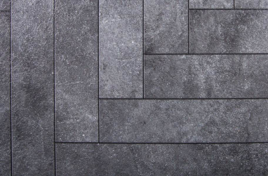 Stone Flex Tiles - Mosaic Collection - Chevron Blackstone