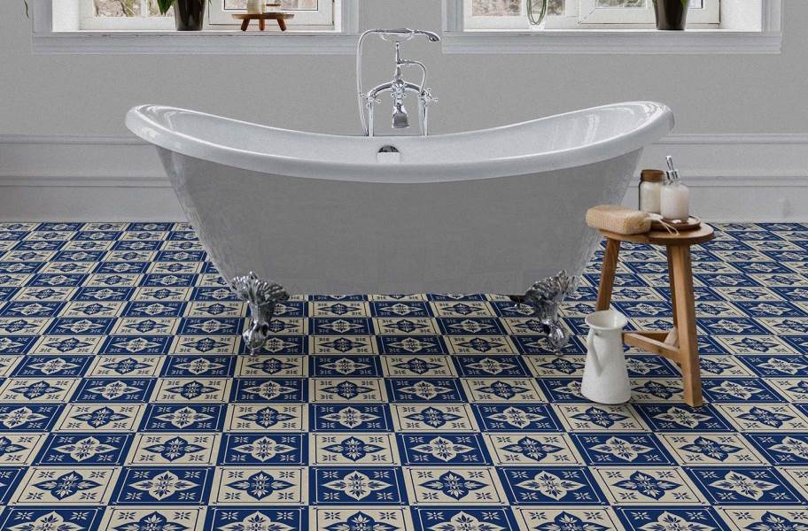 Geo Flex Tiles - Blue Lotus
