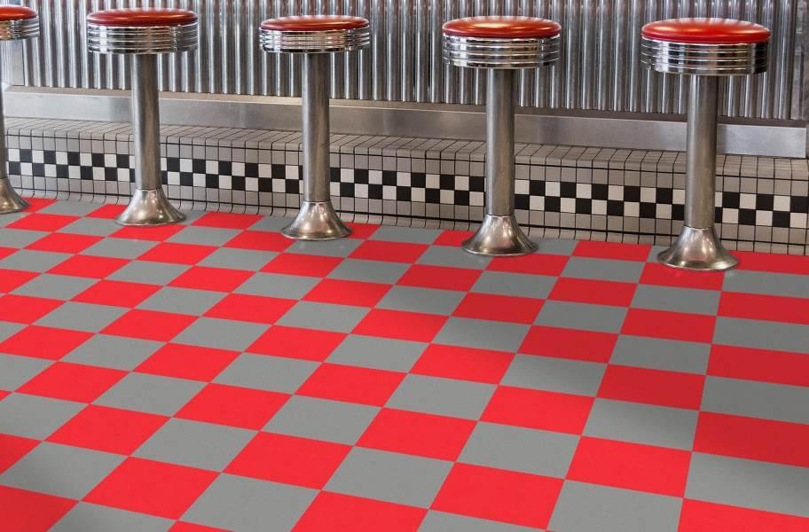 Soda Shoppe Flex Tiles - Black and Light Gray