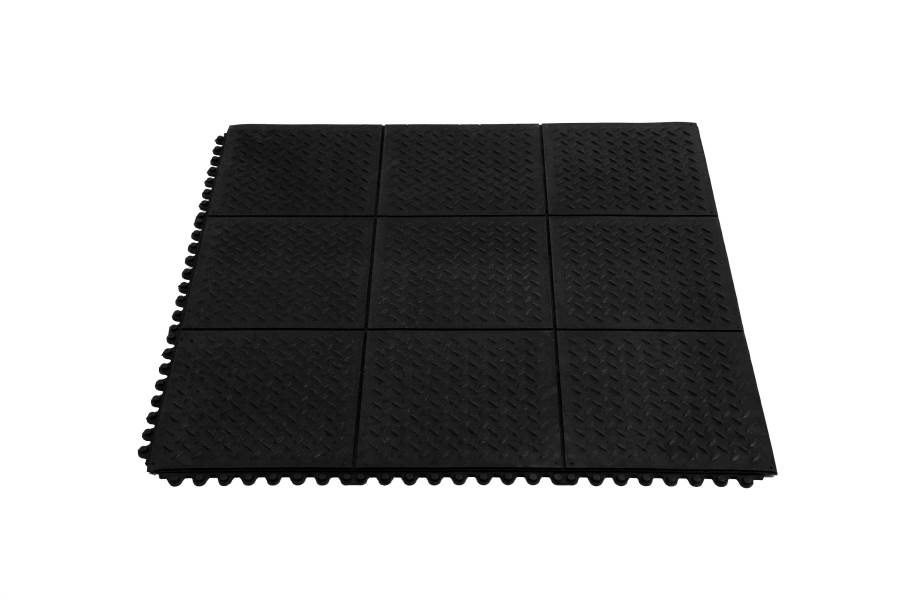 "5/8"" Diamond Plate Evolution Rubber Tiles"