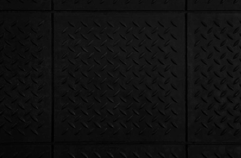 """5/8"""" Diamond Plate Evolution Rubber Tiles - Black"""
