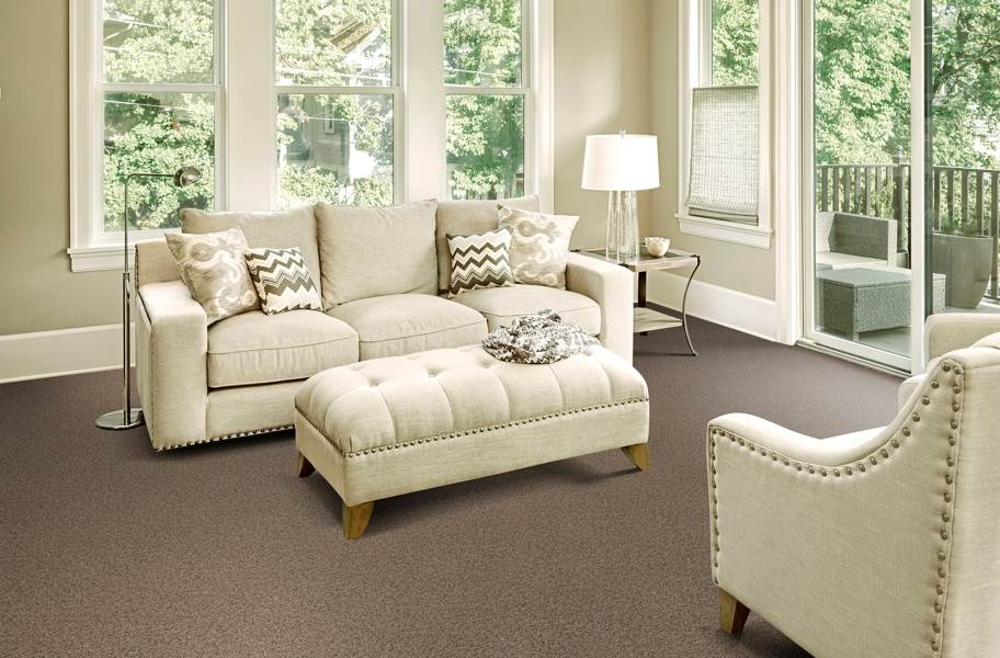 Piece of Cake Carpet Tile with Pad - Leather