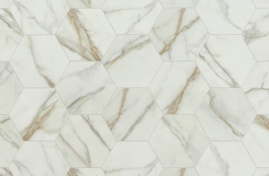 Mannington Benchmark 6' Vinyl Sheet - Carrara Ivory
