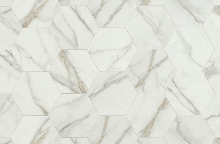 Mannington Benchmark 6' Vinyl Sheet - Carrara Pearl