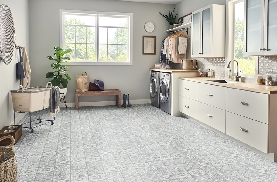 Mannington Benchmark 6' Vinyl Sheet - Morocco Salt