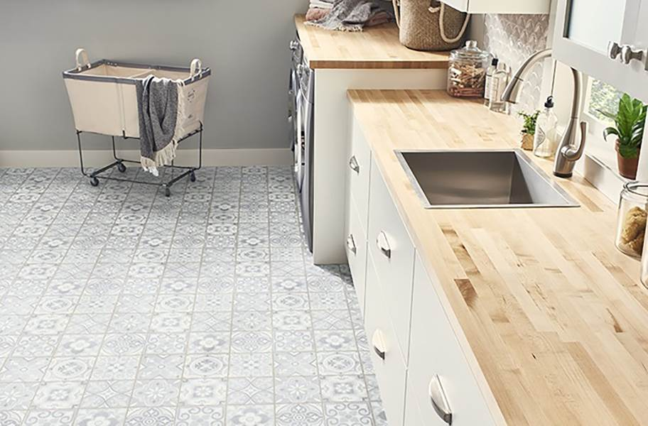 Mannington Benchmark 12' Vinyl Sheet - Morocco Salt