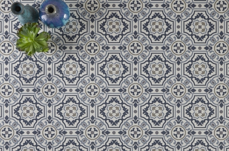 Mannington Benchmark 6' Vinyl Sheet - Tapestry Denim