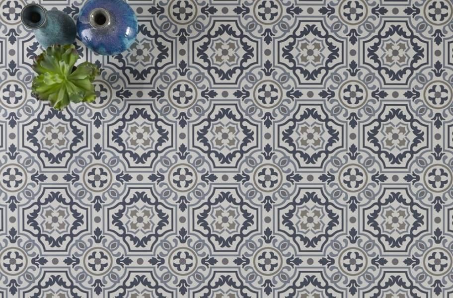 Mannington Benchmark 12' Vinyl Sheet - Tapestry Denim