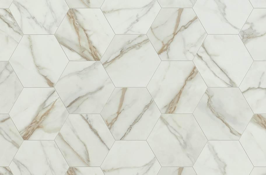 Mannington Benchmark 12' Vinyl Sheet - Carrara Ivory