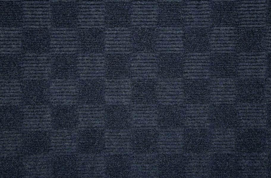 Checkered Carpet Tile - Seconds - Ocean Blue
