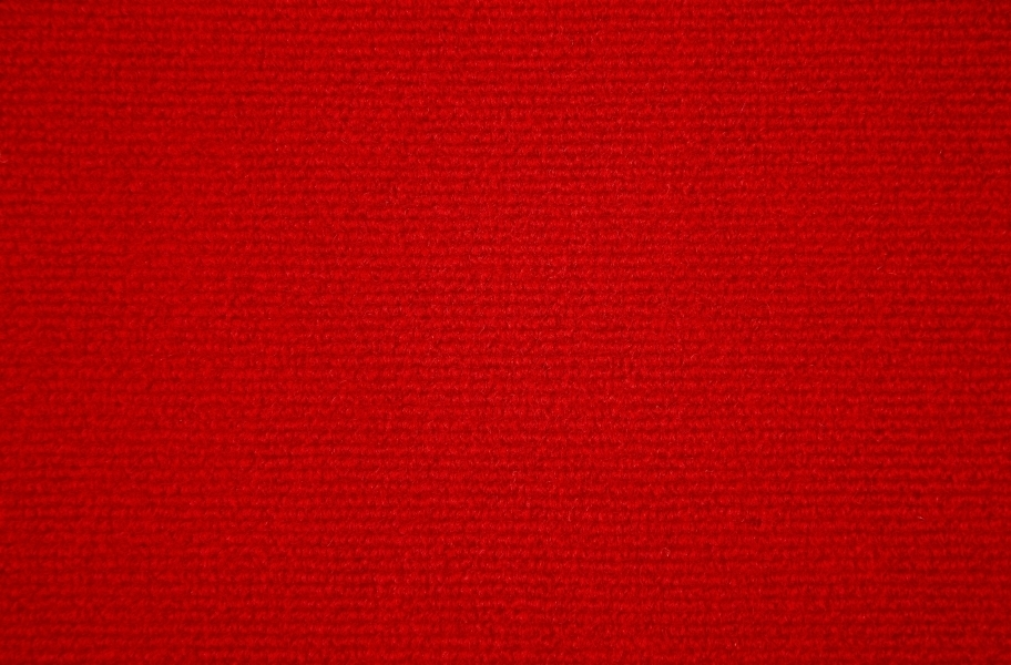 Ribbed Carpet Tile - Quick Ship - Red